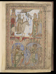 Flight into Egypt, and Massacre of the Innocents, in The Winchester Psalter